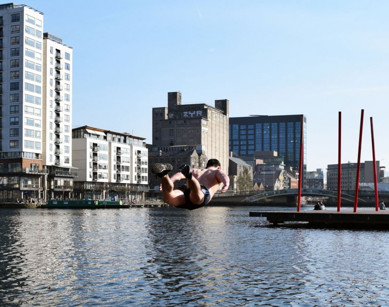HEED FM – DYLAN JOYCE<br>GRAND CANAL DOCK DIVER – DIGITAL PRINT – 2016
