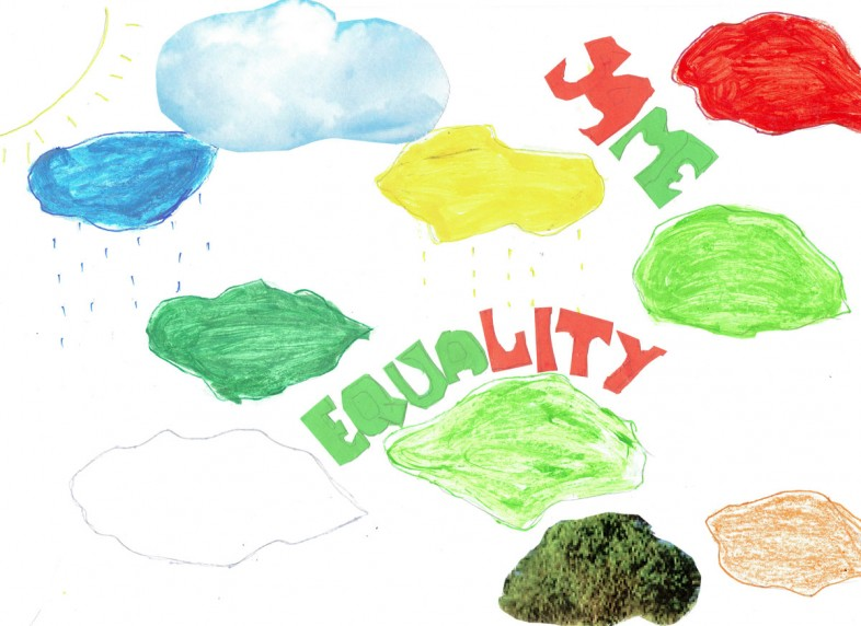 HEED FM – GUELORD MUBENGA MFUNGI<br>EQUALITY CLOUD – MARKER, PENCIL ON PAPER – 2016